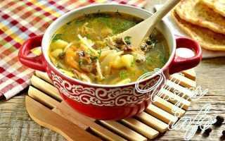 Суп из свежих грибов с вермишелью