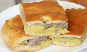 тесто для пирога с фаршем и картошкой