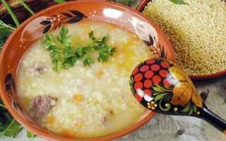 суп с пшеном рецепт с фото пошагово