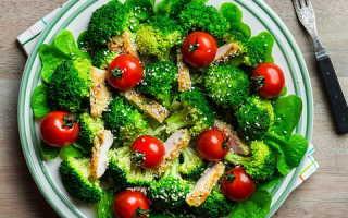 салат из замороженной брокколи