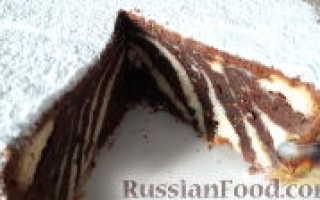 Видео оригинальный торт Зебра с творогом