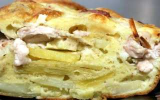 Невероятно вкусный заливной пирог с фаршем и картофелем