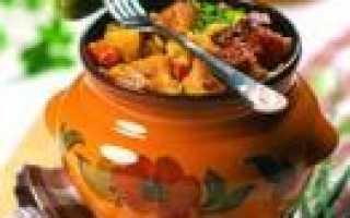 картофель с креветками