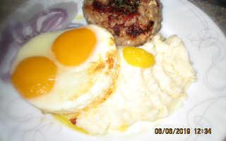 бифштекс с картофелем