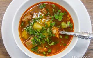 суп с машем и курицей