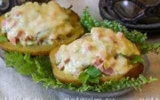 рецепт фаршированного картофеля фаршем в духовке