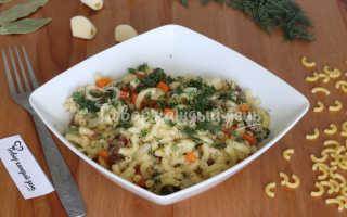говядина с макаронами рецепт на сковороде