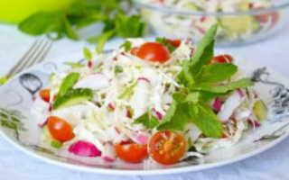 салат с французской горчицей и овощами