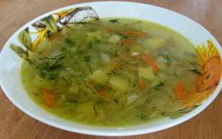 грибной суп с капустой и картошкой
