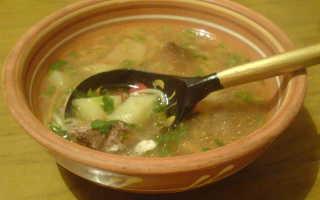 суп из свиной печени