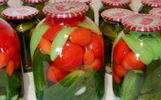 Как законсервировать помидоры и огурцы вместе