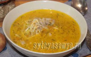 суп из свиных ребрышек с вермишелью