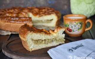 Пироги с капустой в духовке пошаговый