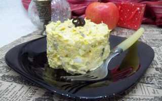 салат куриное филе огурец сыр яйцо