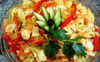 салат из корейской моркови и капусты