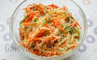 салат с фунчозой рецепт и корейской морковью