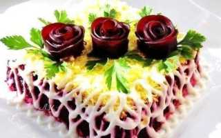 оформление салата под шубой