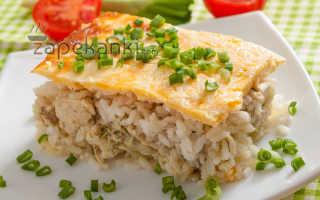запеканка из курицы с рисом
