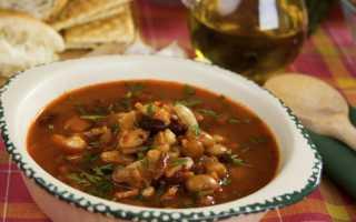 суп из красной фасоли с курицей