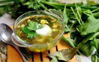 Готовим щавелевый суп с перловкой