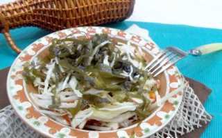 салат из морской капусты и белокочанной капусты