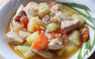 рецепт рагу с курицей и овощами