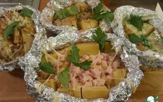 Рецепты фаршированный картофель в фольге