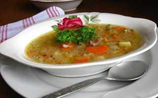 рецепты супа из свинины