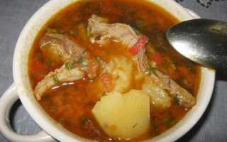 супы на бараньем бульоне