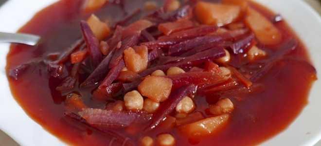 борщ без капусты рецепт классический
