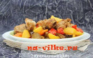 Быстрый рецепт приготовления рёбрышек в рукаве с овощами