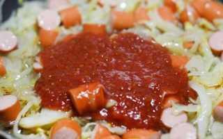 подливка из сосисок к макаронам