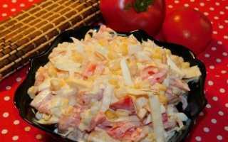 салат с капустой и помидорами с майонезом