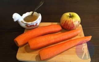 салат морковный с яблоком