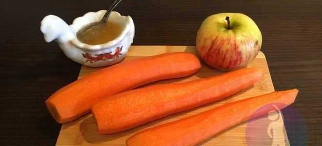 салат морковка с яблоком
