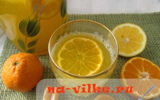 Как приготовить домашний лимонад из мандаринов