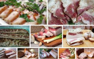 как вкусно засолить сало с мясом