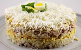 как приготовить салат невеста с курицей