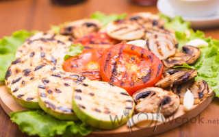 Сколько жарить овощи на сковороде гриль