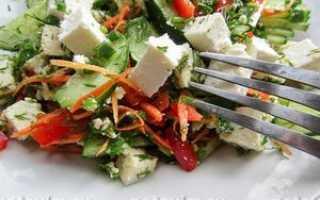 салат с адыгейским сыром и пекинской капустой