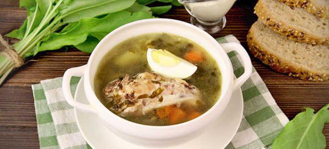 щавельный суп с курицей