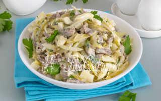 куриные сердечки салат рецепт