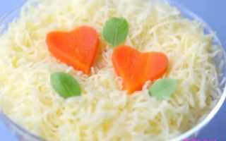 салат из моркови яблока и сыра