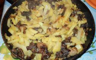 Как приготовить сыроежки с картошкой на сковороде