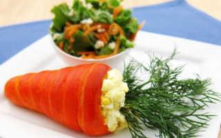 салат из свежей моркови и яйца рецепт