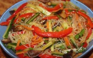 салат из фунчозы с морковью по корейски