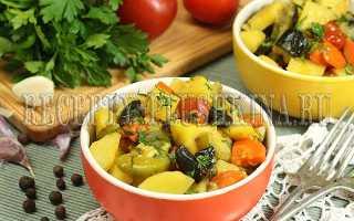 овощное рагу с кабачками баклажанами и картошкой