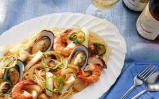морской коктейль с макаронами рецепты