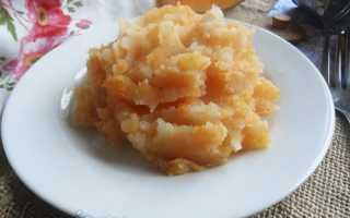пюре с тыквой и картошкой