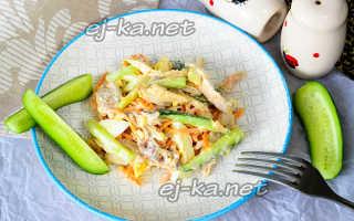 салат из корейской моркови и огурца свежего